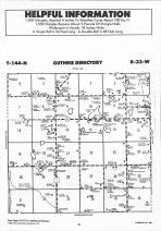 Guthrie T144N-R33W, Hubbard County 1992 Published by Farm and Home Publishers, LTD